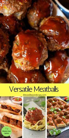 Boulettes de viande polyvalentes – facilement modifiées pour être sans gluten. Découvrez la variété des …   – Beef
