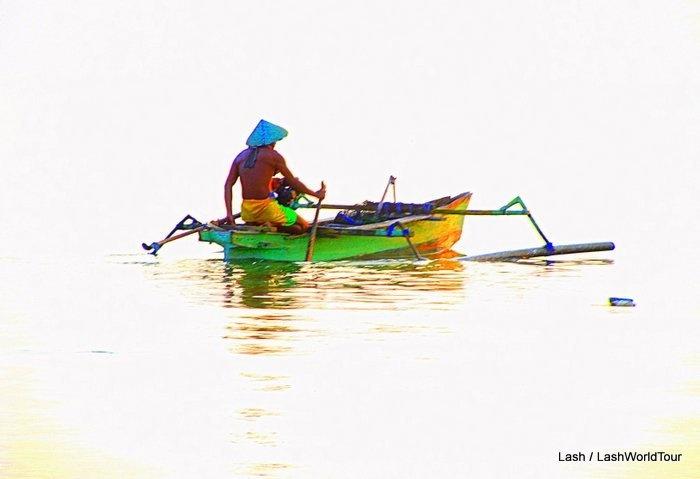 voyaging out to the seas.   Gili Meno, Indonesia