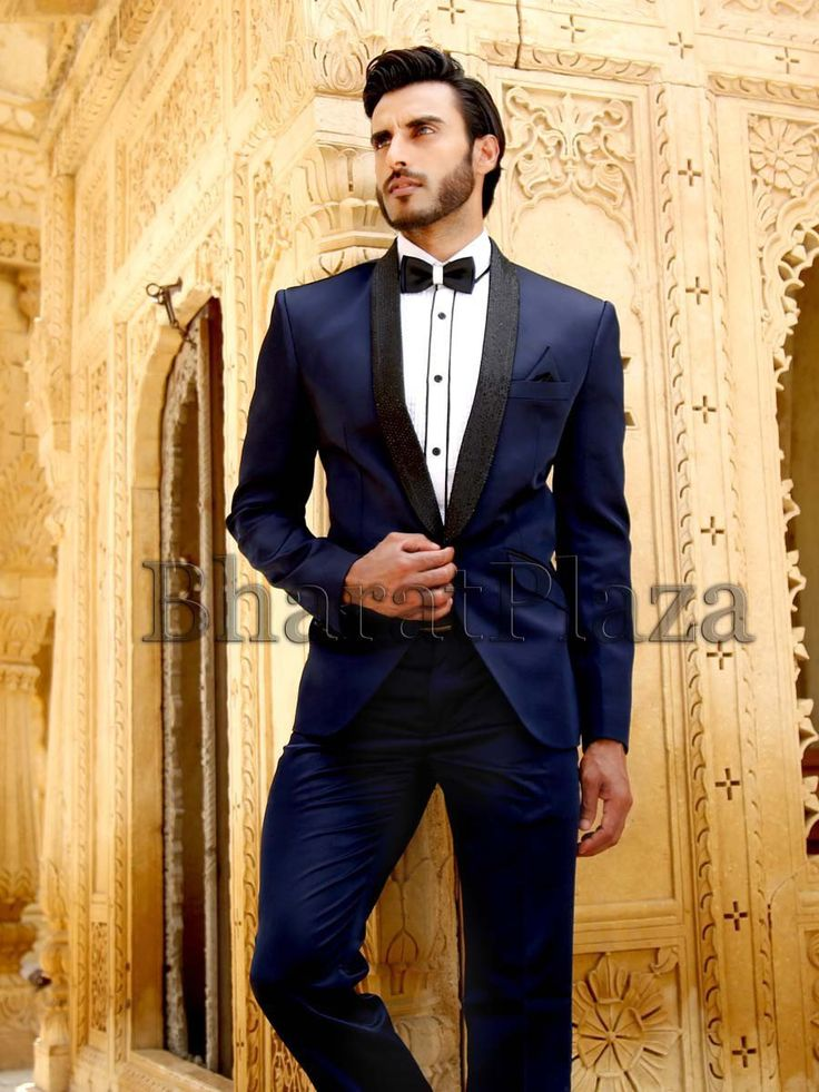 Spectacular navy blue color shawl lapel #Tuxedo designed on Imported fabric with pocket flap. Item Code: TSP2602 http://www.bharatplaza.com/new-arrivals/mens-suits.html