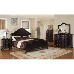 Get Info On Helena Bedroom Set - Queen - 6 pc. for shop , Lauren Wells The large beveled mirror with its dark frame and decorative touches compliment the dresser beautifully. With its ornate detailing on headboard, footboard and pilasters, this curvaceous Queen bed will bring out the Count or Countess in you. The matching nightstand has three drawers. Rich detailing and a dark merlot finish bring Old World charm to the regal Helena bedroom group. The shapely chest features five drawers ...