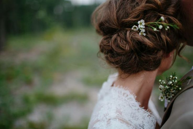 Simple rustic hair styling