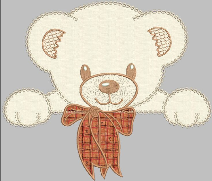 Bear applique free embroidery design - Applique free designs - Machine embroidery community