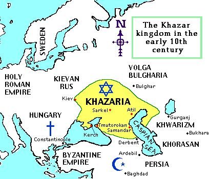 """#JEWISH #KINGDOM OF #KHAZARIA : #Hebrew #History and #Heritage : #Khazarians are #Descendants of #Turko - #Mongolian #Tribe """" #Khazar """"  --    #Khazars   were a #Central #Asian #people of #Turkic, #Hunnish and #Iranian #elements that arose in the #Caucasus #region. After #converting to #Judais..."""