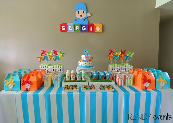 58 best images about pocoyo on pinterest candy bags - Fiesta de cumpleanos infantil ideas ...