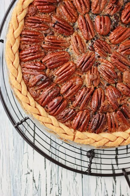 Yum! We can't wait to try this Chocolate Pecan Pie!