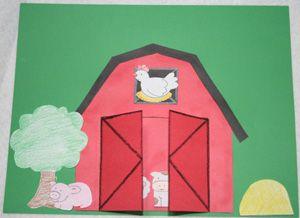 Como hacer una granja con papel cartulina