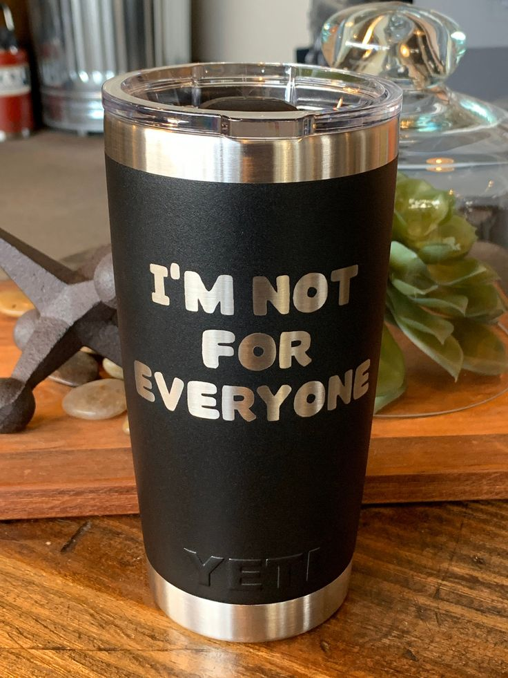 Laser Engraved Authentic Yeti Rambler I'm NOT FOR
