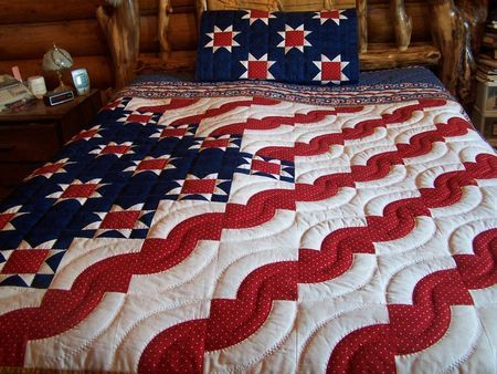 Gorgeous - Patriotic Flag style quilt