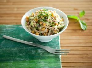 Салат из нута с булгуром и тунцом, пошаговый рецепт с фото