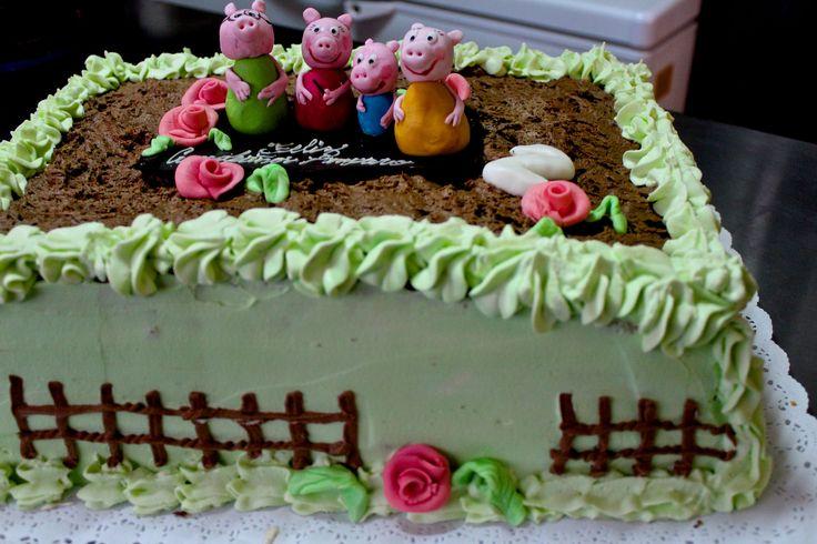 https://flic.kr/p/Lb9dTP | Familia de chanchitos en torta de caramelo | www.omigretchen.de