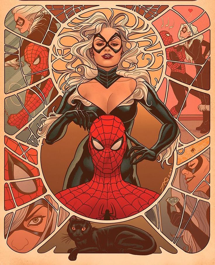 Felicia HARDY (BLACK CAT) and Peter PARKER (SPIDER-MAN) | Marvel Fan ART