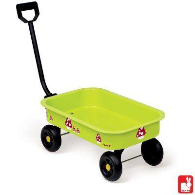 http://www.benjaminbengel.com/karretjes/1001023-tuintrolley-natur-3700217332297.html  Metalen wagentje / kar. Ideaal voor in de tuin of om het lievelingsspeelgoed in mee te nemen! Rubberen wielen en plastic handvat.