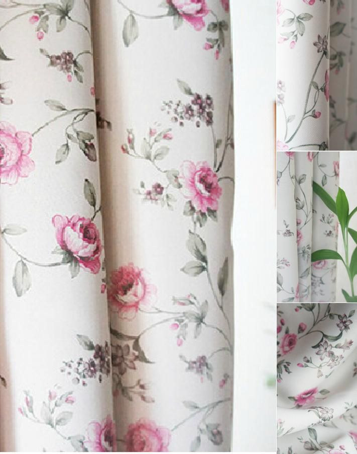 Sensational Good Quality Floral Pink Shabby Chic Curtains Blackout Beutiful Home Inspiration Papxelindsey Bellcom
