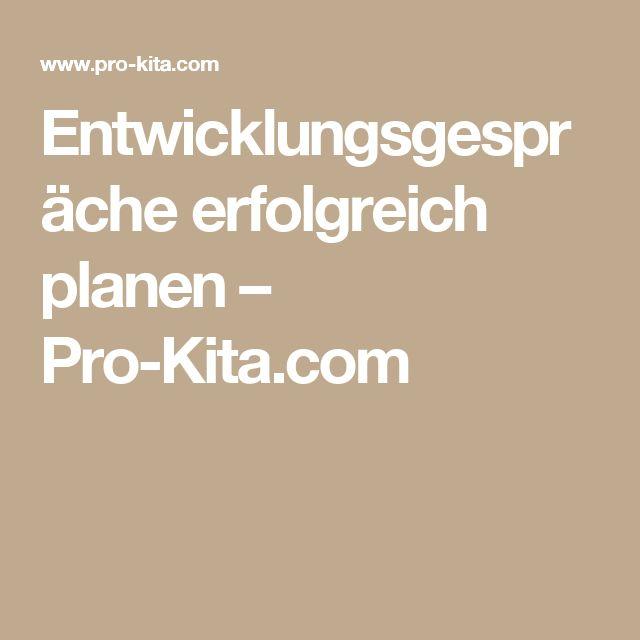 Entwicklungsgespräche erfolgreich planen – Pro-Kita.com