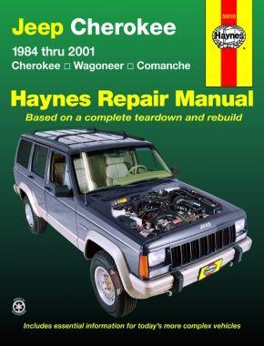 Haynes cover image of Jeep Cherokee Cherokee, Comanche & Wagoneer Limited, 2WD & 4WD, petrol (84-01) Haynes Repair Manual