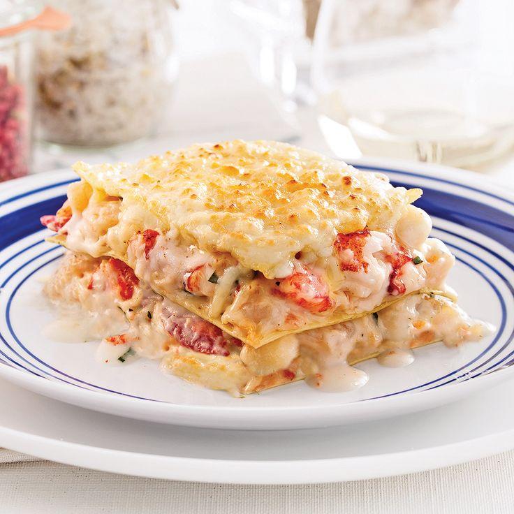 Envie d'une lasagne qui fait changement? Mariez fruits de mer et fromages d'ici!