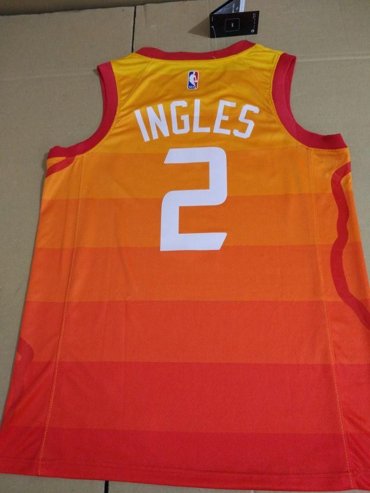 the latest ef68e 021d1 Men 2 Joe Ingles Jersey City edition Yellow Orange Utah Jazz ...