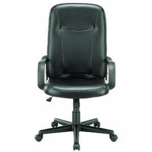 LexMod Turbo High Back Padded Office Computer Chair in Black Vinyl