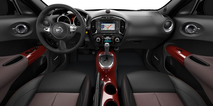 2017 Nissan Juke with Black and Red leather interior
