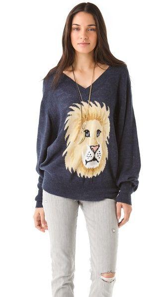 Wildfox Leone V Neck Sweater. but really, i need this