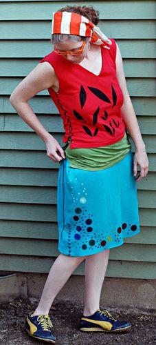 skirts out of sweatshirts: Old Sweatshirt, Make A Skirt