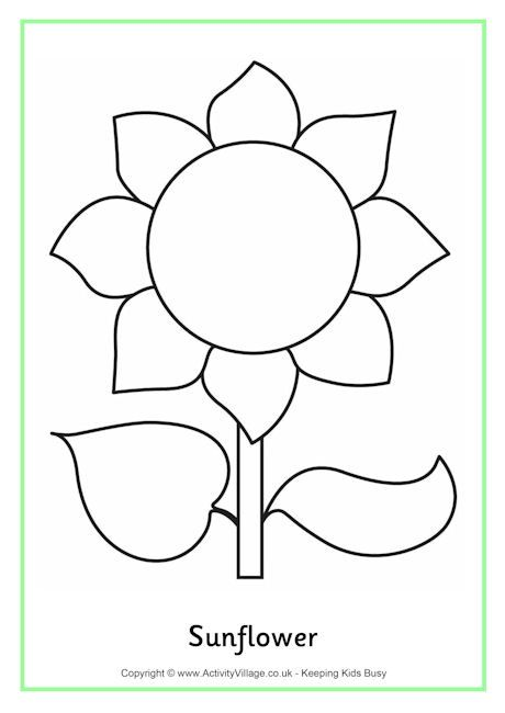 sunflower colouring page 2  sunflower template sunflower