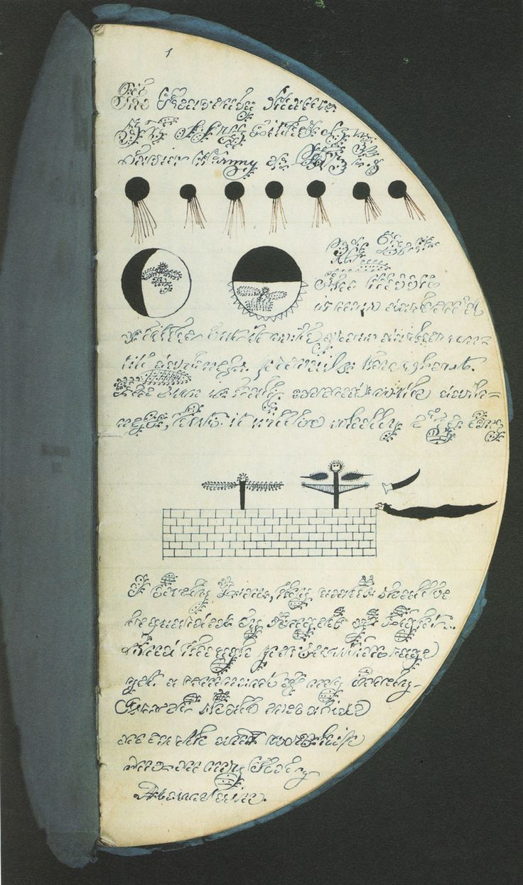 A Booklet of folded circular pages holding communications from Prophetess Anna and a native spirit named Carifick P.  1843