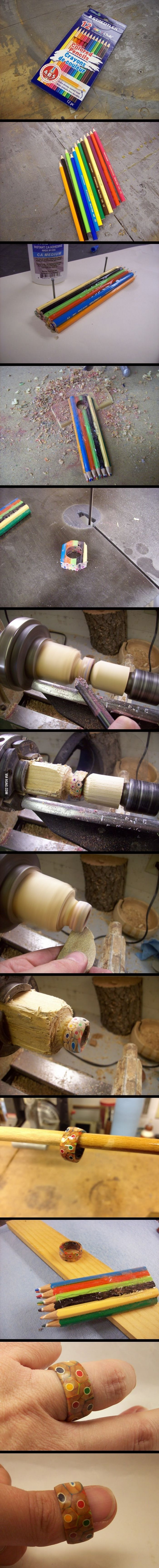 How to make a Colored Pencil Ring