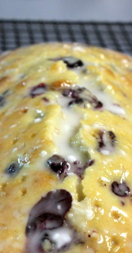 Lemon-Blueberry Sour Cream Pound Cake with Lemon Glaze