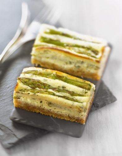Cheese-cake aux asperges et pecorino