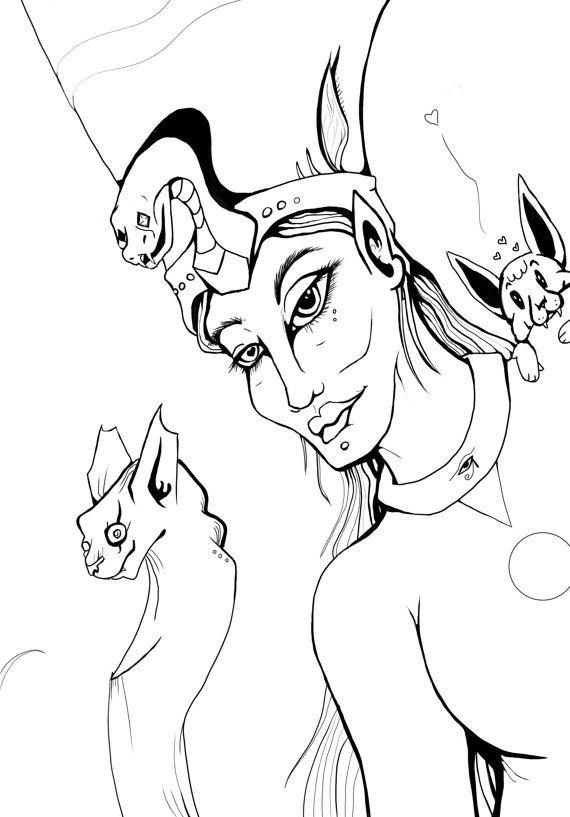 Celeste Goddess who walks heaven and Earth by TigirisIllustrations