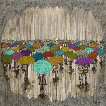 Kendra Studios A Sea of Umbrellas – 12″x12″ | Paisley Print Boutique