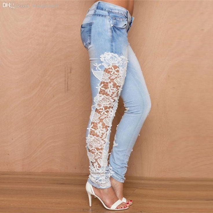 ripped-jeans-plus-size-women-lace-splice.jpg (900×900)