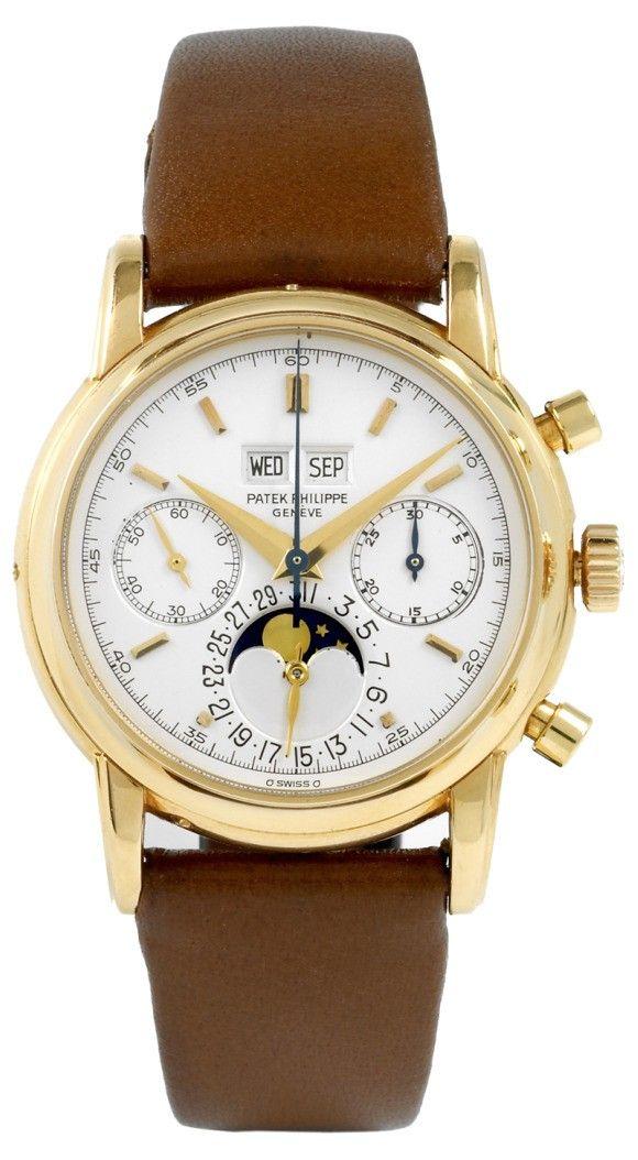 patek phillipe  | Patek Philippe Rare Ref. 2499/100 Triple Calendar Chronograph Watch At ...