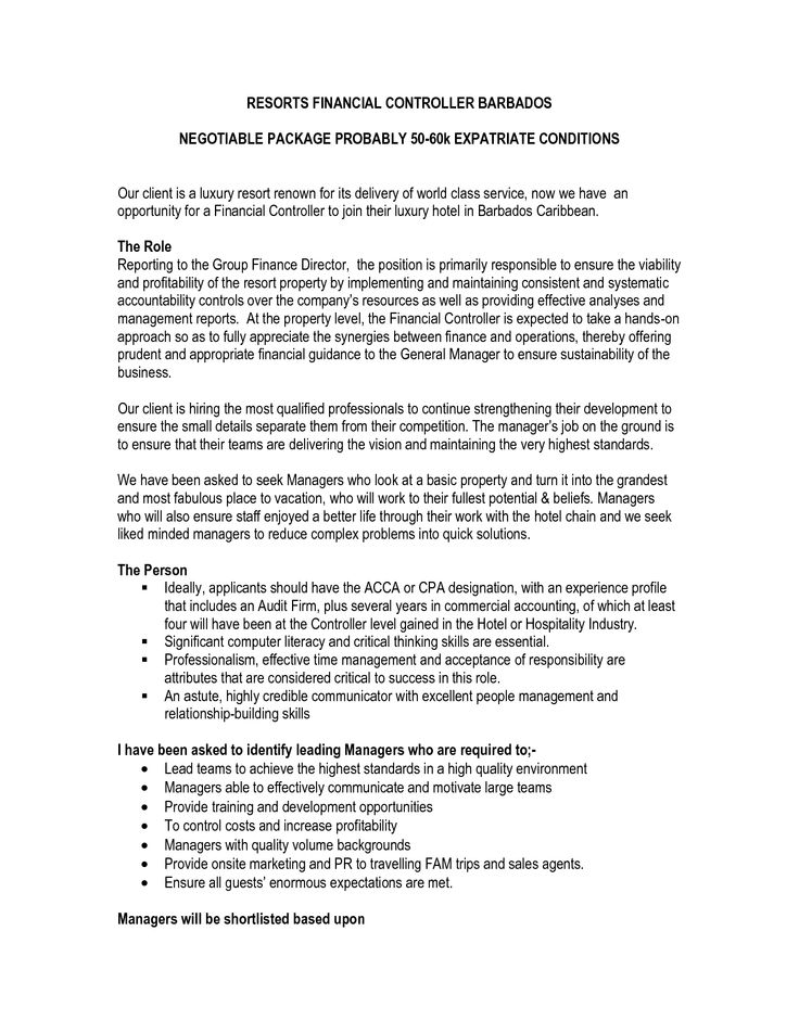 Sample Resume For Financial Controller - http\/\/wwwresumecareer - sample financial controller resume