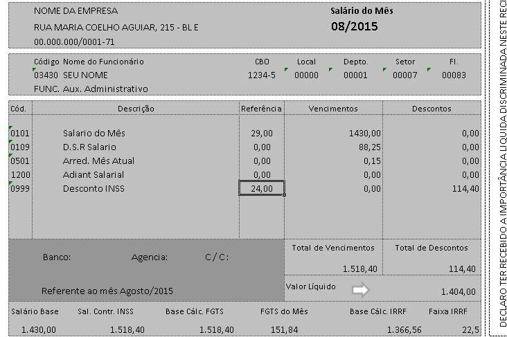 Download Modelo de Contracheque / Holerite em Excel editável | Elton Krauser