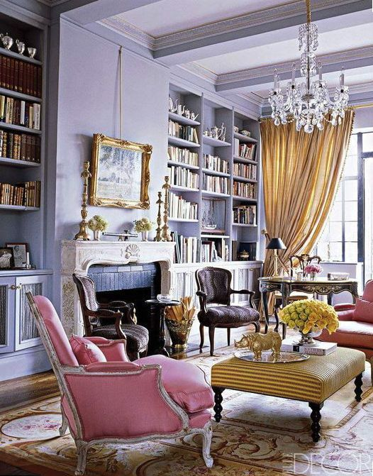 10 Glamorous Home Libraries Every Bookworm Needs to See                                                                                                                                                                                 More