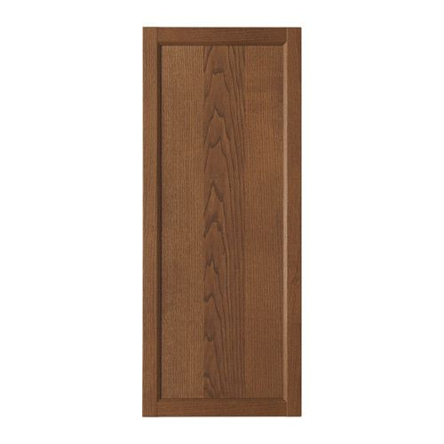IKEA - OXBERG, Door, brown ash veneer, , Adjustable hinges allow you to adjust the door horizontally and vertically.Behind the panel doors you can keep your belongings hidden and free from dust.