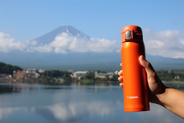 Our all-new Stainless Mug SM-SHE48/60 with an electro-polished SlickSteel® 18/8 stainless steel interior is available now in 16 and 20 oz. capacities. This month, it accompanied us on our trip to Japan, where we checked out this stunning view of Mt. Fuji! Where does your #ZoGo?
