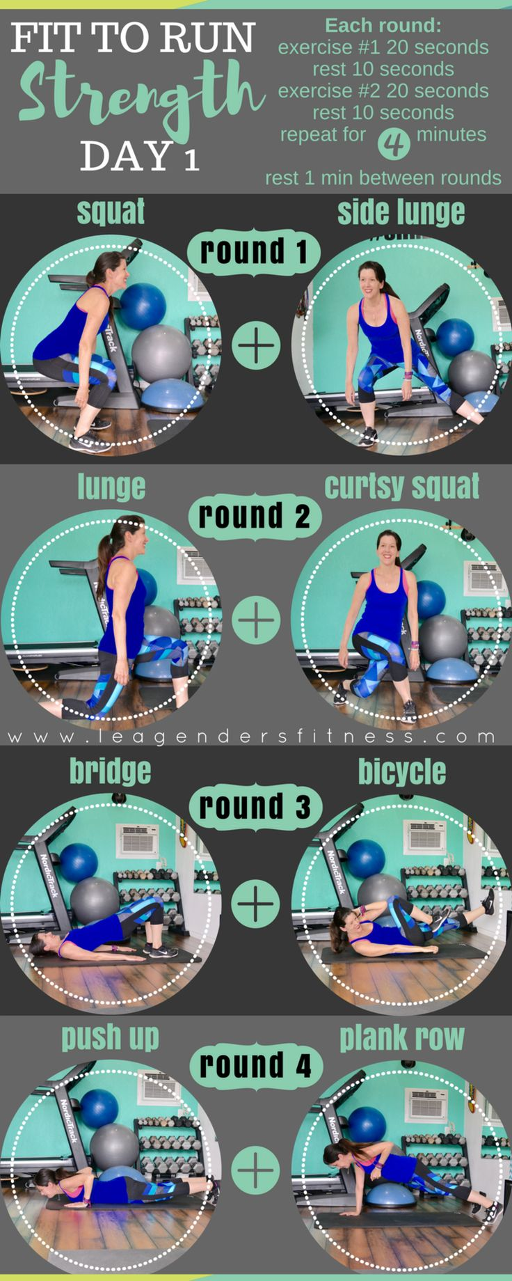 Fit to run strength training for runners - save to Pinterest - subscribe to download printable version of this workout