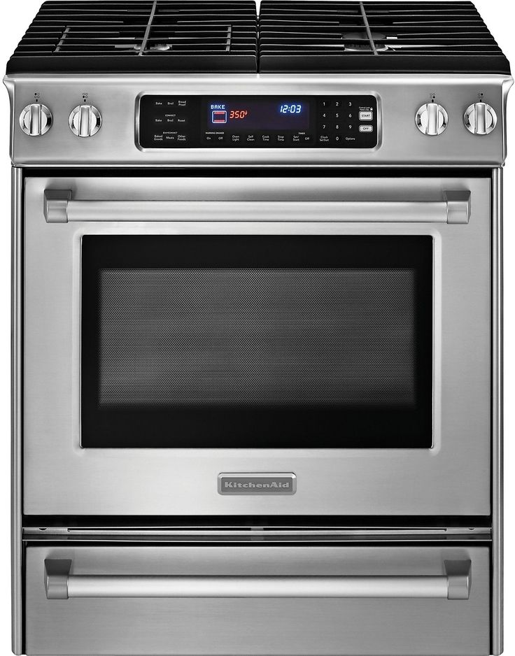"""Cooking Products - KitchenAid Pro Line® Series 30"""" Slide-In Gas Range - Stainless Steel"""