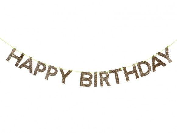 Meri Meri Girlande Happy Birthday Gold Glucklicher Geburtstag