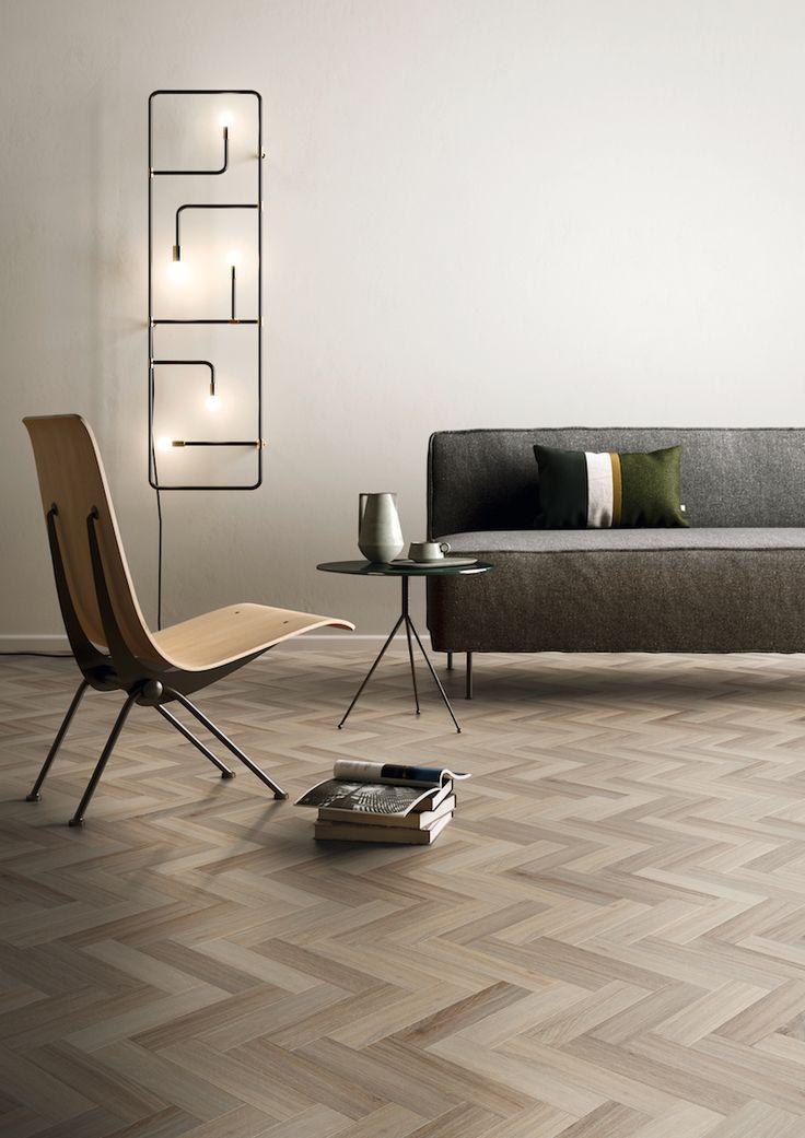 Warme vinyl vloer met visgraat motief en eiken houtlook van Moduleo #interieur #vloer