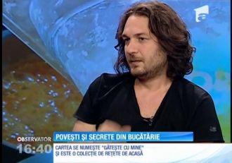 """Chef Florin Dumitrescu a povestit despre cum a îmbinat gătitul cu scrisul. """"Gătește cu mine!"""