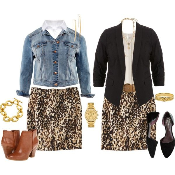 """""""Casual Work Skirt - Plus Size"""" by alexawebb on Polyvore"""
