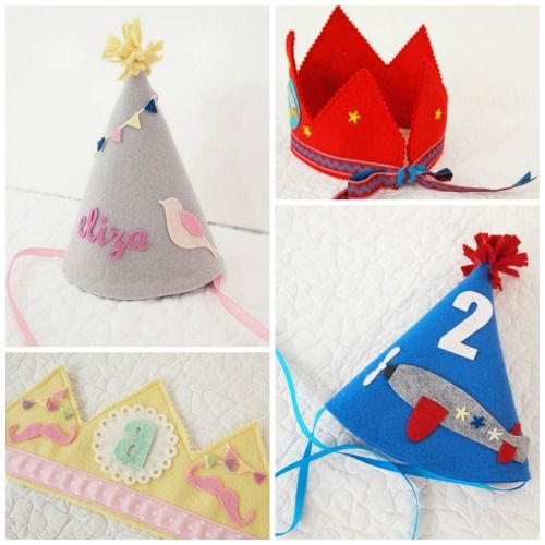 The most gorgeous handmade birthday crowns and party hats we've seen on Etsy. (because every baby is your own royal prince or princess right?)