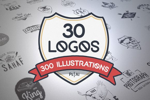 Logos & Illustrations by Mockup Zone on Creative Market