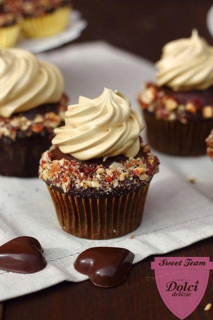 formine e mattarello: Tortine al cioccolato con crema al mascarpone e caffè
