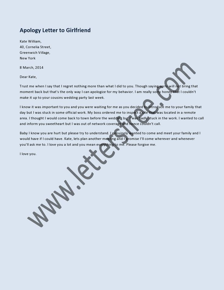 8 best Sample Apology Letters images on Pinterest Letters Letter