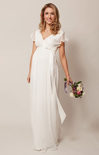 Hannah Maternity Wedding Gown Long Ivory - Maternity Wedding Dresses, Evening Wear and Party Clothes by Tiffany Rose.